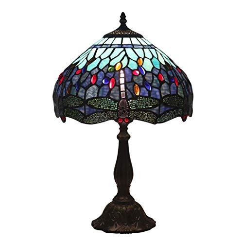 FFAN Lámpara de Mesa Estilo Tiffany Lámpara de cabecera con Pantalla de vitrales, 49 cm de alto-30 cm de Ancho para Mesa de Centro, Sala de Estar, Dormitorio, lámparas de Escritorio, 1 luz (Color: