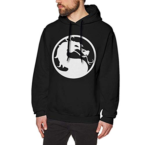 Homme Sweats à Capuche, Sweat-Shirt à Capuche, Fashion Mortal Dragon Mens Long Sleeve Sweatshirts Man's Hoodies Black