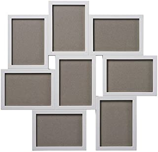 Plastic White Collage Frame For 8 Photos, 13x18cm each Photo - 56621