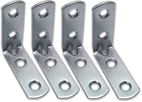 SECOTEC Stellagen-Winkel 25 mm, Regal-Verbindungs-Winkel aus hochwertigem Stahl verzinkt, mit hoher Verbindungs- und Zugkraft, 4 Stück