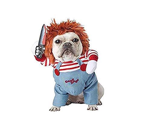 ARMAC Pet Creative Funny Method Dog Fighting Dog Personalidad Divertida Ropa convertida en una mascota Party Teddy Ke Fund Hair Perros Pequeos Medianos y Grandes