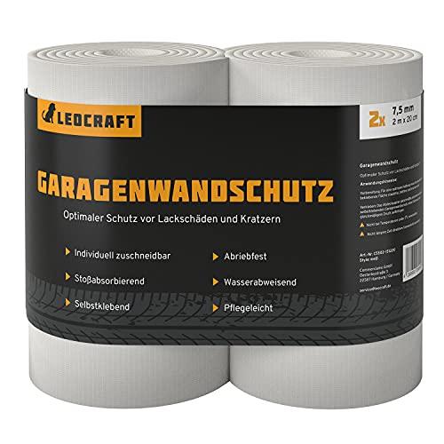 LEOCRAFT 2X Türkantenschoner je 2 m lang Auto Garagenwandschutz Türkantenschutz Autotür Rammschutz selbstklebend weiß
