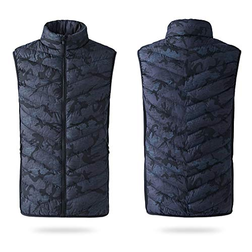 Fantastic Prices! Seaintheson Men's Heated Vest Winter Electric Warm Down Cotton Jacket Body Warmer ...