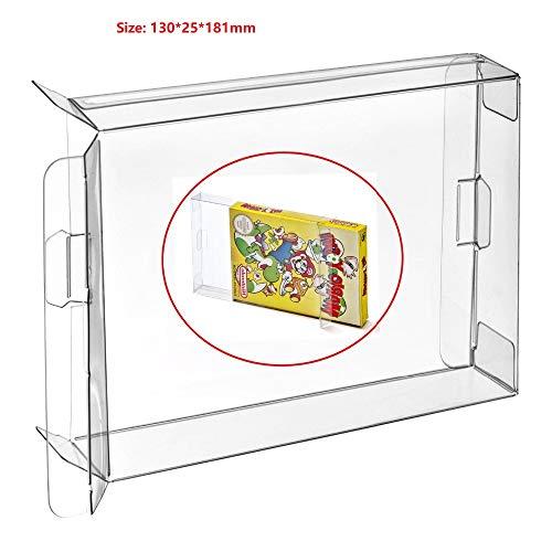 Ruitroliker 10Pcs Clear Box CIB Hülse Schutzhülle für NES Spiele Patronen