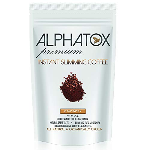 Alphatox Premium Instant Slimming Coffee Cycle, Helps Lose Weight Naturally, Full of Antioxidants, 70 grams, Organic Coffee