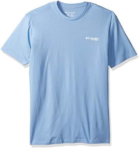 Columbia Apparel Men's Standard PFG Graphic T-Shirt, White Cap/Flint, Large