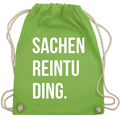 Shirtracer Festival Turnbeutel - Sachenreintuding - Unisize - Hellgrün - turnbeutel spruch - WM110 - Turnbeutel und Stoffbeutel aus Baumwolle