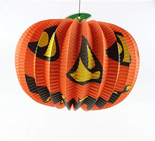fixiyue Halloween Mall Bar Event Props Ghost Festival Liefert Foldpumpkin Papier Laterne Smiley Kürbis Falte Kürbis klein