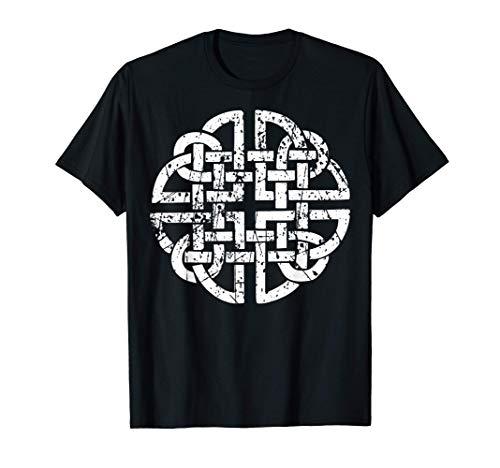Celtic Knot Mythology Valhalla Odin Viking distressed retro T-Shirt