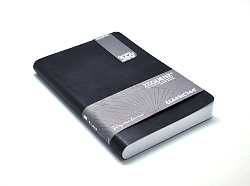 """Zequenz Classic 360 Soft Cover Notebook, Soft Bound Journal, Large, Black, 5.75"""" x 8.25"""", 200 Sheets / 400 Pages, Ruled, Lined Premium Paper"""