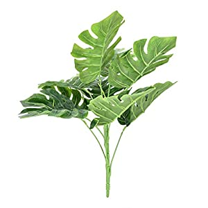 Emoshayoga Artificial Plants Tropical Leaves Banana Tree Faux Palm Leaf Bird of Paradise Plant Fake Leaves Greenery Shrubs for Indoor Outside Home Garden Office Wedding Party Decorations