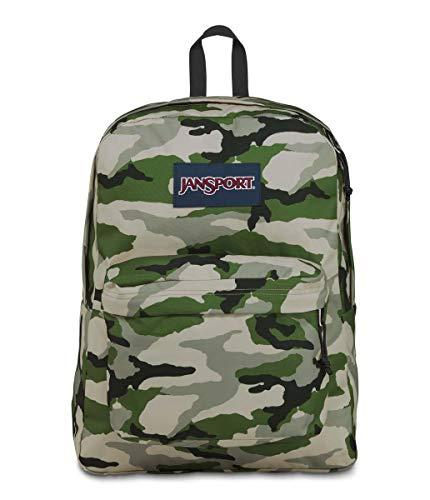 JanSport SuperBreak Backpack - Lightweight School Pack, Classic Camo