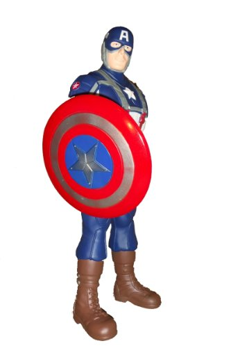 """Marvel Avengers Comic Book Movie Captain America Collector Action Figure Toy 15"""" image"""