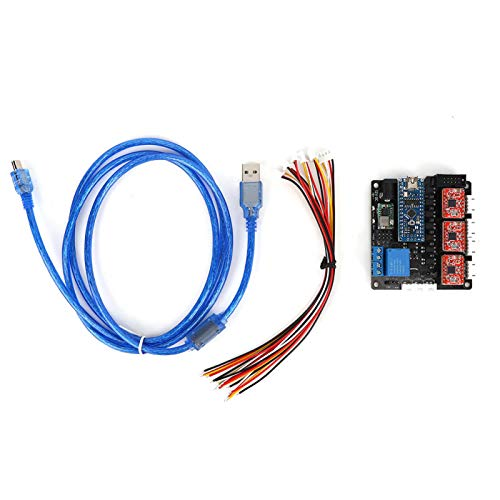 Accesorio eléctrico, Tablero de Control de 3 Ejes con Interruptor de límite 3 A4988 Controladores Placa Base Kit de Placa Base Ampliamente Utilizado para electrodomésticos