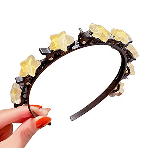zhaoying Lindo aro para el pelo con clips, diadema multiusos para el pelo de princesa, accesorios coloridos para niñas