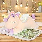 Lindo muñeco de Unicornio de ensueño Grande 40-100cm Juguete de Peluche Arcoiris ángel Caballo Almohada para Dormir muñeca de Trapo Regalo de cumpleaños 100cm Amarillo