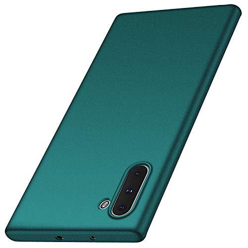 Anccer Kompatibel mit Samsung Galaxy Note 10 Hülle, [Serie Matte] Elastische Schockabsorption & Ultra Thin Design (Kies-Grün)