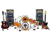 ZEPPELIN - Miniaturas LED en miniatura a escala 1:4 John Bonham Drum kit jimmy Page guitar gadget Rock modelismo de colección