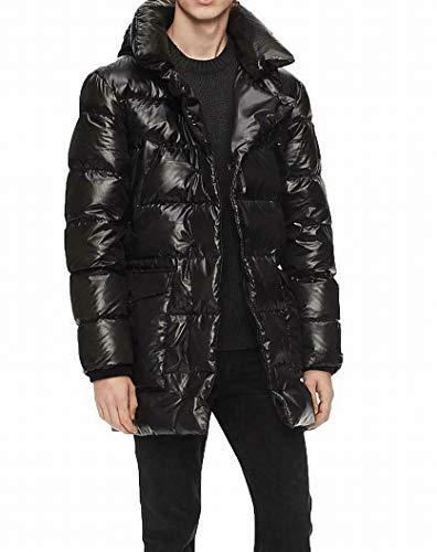 Calvin Klein Mens Oversized Puffer Jacket, Black, Small