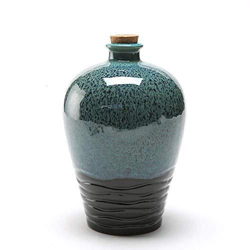 AMYZ Sake Pot Artesanía de Porcelana Retro Tradicional/Jarra de Vino/Jarra de Vino,1000ML