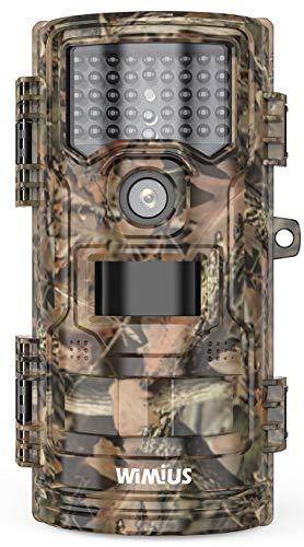 WiMiUS Wildkamera, 16MP 1080P Wildkamera mit Bewegungsmelder Nachtsicht, Infrarot-Nachtsicht Wildtierkamera mit IP66 Wasserdicht, Zeitraffer, Zeitschaltuhr (Braun)