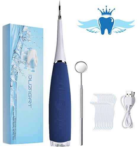 Zahnsteinentferner, Tragbarer Zahnreiniger, Tartar, Hochfrequente, Wasserdicht IPX6 1pcs Zahnbürstenkopf, Zahnsteinentfernung Zahnreinigung Interdentalbürsten Zahnpolierer-Effektive Zahnarztbesteck