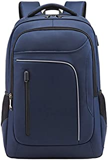 SODIAL Fashion Trend Men'S Business Backpack Junior High School Bag Leisure Travel Computer Bag Black