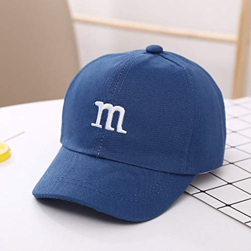 Gorra de béisbol para niños para niñas, Sombreros para niños, Protector Solar, Gorro de bebé, Hip Hop, Letra M, Lindas Gorras para niños de 1 a 6 años-Blue