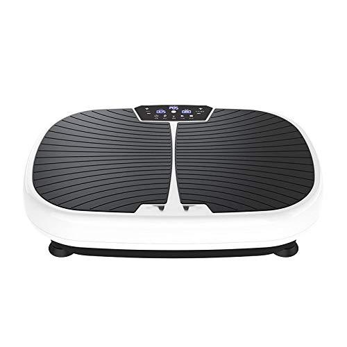 Topashe Plataforma Vibratoria de Fitness Motor,Máquina de Adelgazamiento Inteligente, máquina de agitación de Masaje-Blanco,Plataforma Vibratoria Fitness