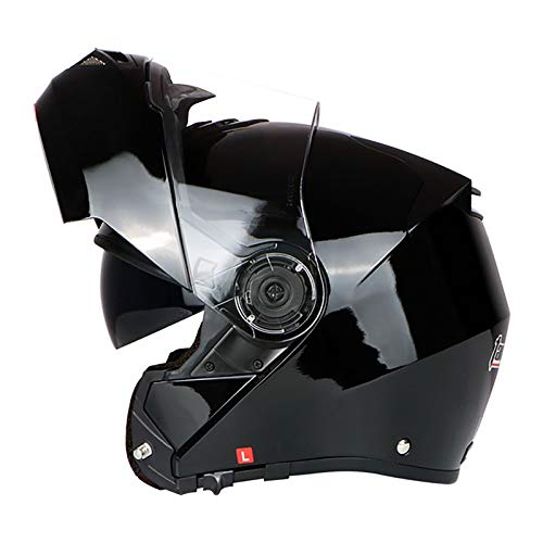 Modular Casco de Motocicleta Adultos Casco de Moto Casco Integral,ECE Homologado Flip Up Casco de Moto Cascos de Motocross y Scooter con Doble Visera para Mujer y Hombre B,2XL=63~64cm