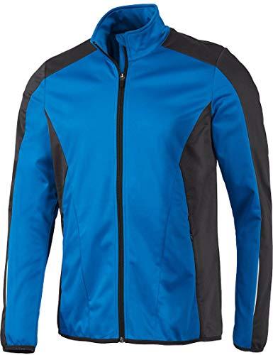 Crivit® Herren Softshell-Fahrradjacke, windicht atmungsaktiv wasserabweisend (Gr. M 48/50, blau schwarz)