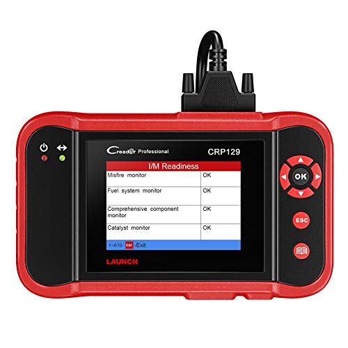 Launch CRP129 X431 Diagnóstico Multimarca OBDII/EOBD lectura/borrado códigos error, Motor, Transmisión, ABS, Airbag, Aceite, SAS, Batería en pantalla TFT 3,5 pulgadas 320 x 480 tarjeta TF 1 GB