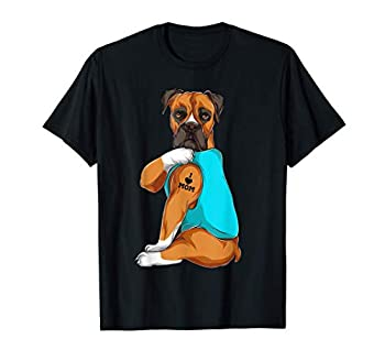 Boxer I Love Mom Tattoo Apparel Dog Mom Gifts Womens T-Shirt