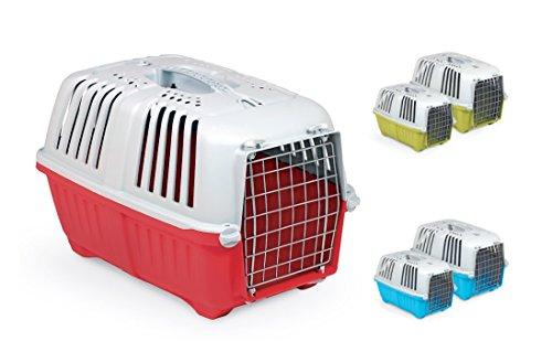 Trasportino Pratiko Metal - Accessorio da viaggio in due misure, con porta metallica, per cani e gatti (Misura 1)