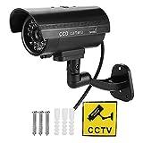 Cámara CCTV ficticia, con luz LED roja Intermitente, Esta cámara ficticia Parece una cámara de Seguridad Real, para supermercado, Hotel, estacionamiento, Biblioteca, Oficina.
