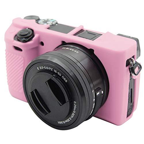 Chejhua Housse de Protection en Silicone for Sony Voiced ILCE-6300 / A6400 Sac de caméra (Color : Pink)