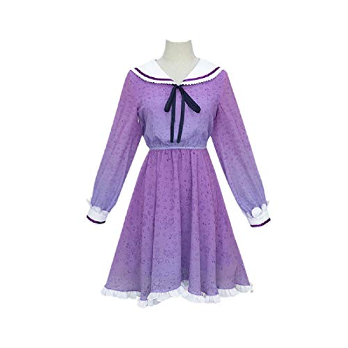 YYFS Traje de Anime Cosplay, Juego, Manga Cosplay, Halloween, Party Carnival Vestido Prpura Flor,Clothing Suit-Large