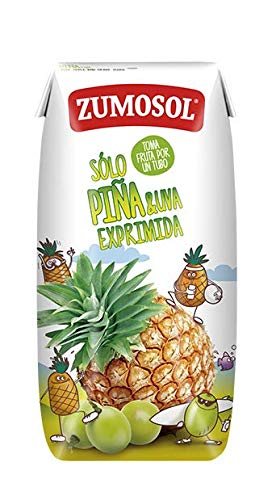 Zumosol Zumo Infantil Exprimido 100% de Piña y Uva, 3 x 200 ml