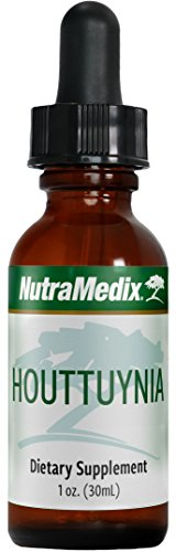 NutraMedix Houttuynia Leaf Extract Tincture - Houttuynia cordata Plant Drops (Fish Mint) for Microbial & Immune Support (1oz / 30ml)