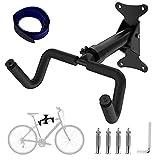 Yodeace Soporte Bicicletas Pared, Capacidad de Carga 50 kg Negro Se Puede Plegar Colgador Bicicleta Pared para Garajes y Hogares