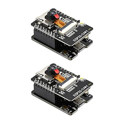2PCS ESP32-CAM-MB, Aideepen ESP32-CAM WiFi Bluetooth Board ESP32-CAM-MB Micro USB to Serial Port CH340G with OV2640 2MP Camera Module Dual Mode for Arduino