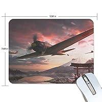 マウスパッド 富士山 さくら 戦闘機 ゲーミングマウスパッド 滑り止め 19 X 25 厚い 耐久性に優れ おしゃれ