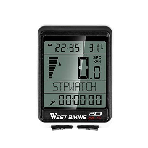 VOSAREA Fahrradcomputer Digital Drahtloser Wasserdichter Kilometerzähler Tachometer 5 Sprache Mountainbike Fahrrad MTB Zubehör