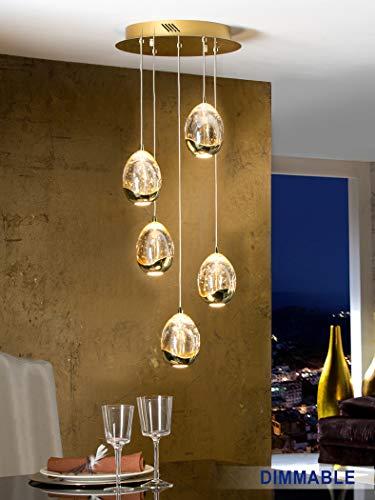 Schuller Moderne Lampe Rocio Gold 5L dimmbar