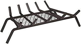 """Rocky Mountain Goods Fireplace Grate with Ember Retainer - 1/2"""" Heavy Duty Cast Iron -Heat Treated for Hottest Fires - Retainer for Cleaner More efficient fire - Weld has (23"""