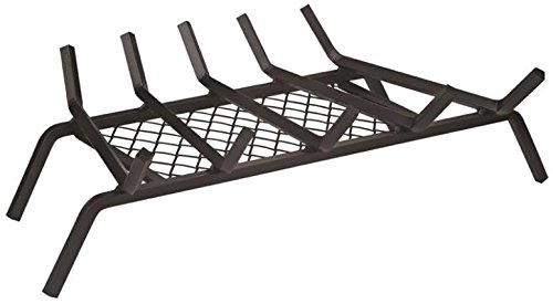 """Rocky Mountain Goods Fireplace Grate with Ember Retainer - 1/2"""" Heavy Duty Cast Iron -Heat Treated for Hottest Fires - Retainer for Cleaner More efficient fire - Weld has (23"""")"""
