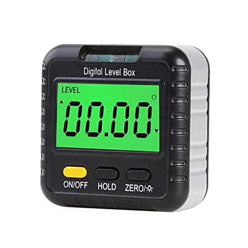 WOYZDN Mini inclinómetro Digital, Caja de Nivel, medidor de ángulo, buscador, Base de transportador, pequeña Herramienta de medición de transportador electrónico