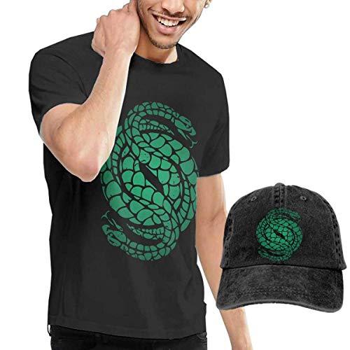 Herren Kurzarmshirt des-Tiny 2 Gambit Logo Men Comfortable T-Shirts and Caps Combination Black