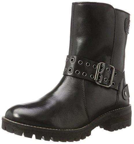 Pepe Jeans London Damen Hellen Open Stiefel, Schwarz (Black), 39 EU