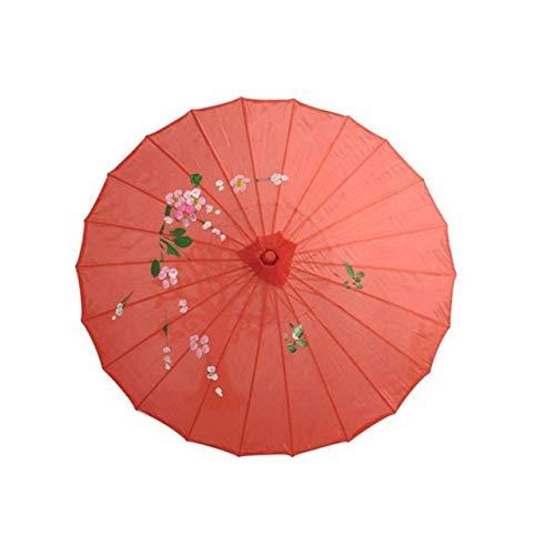 ZGMMM Chinese paraplu vrouwen van de Weinoogst-R, de dansfoto-paraplu-regen trouwen rood